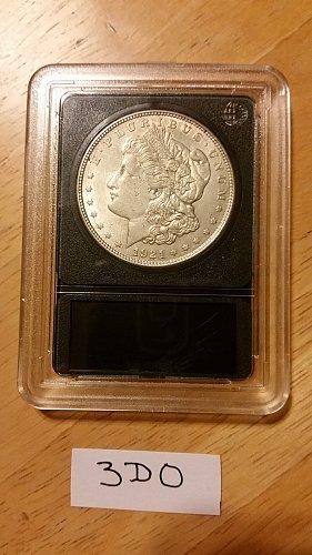 1921 P (Philadelphia) VAM 3DO 90% Silver Morgan Dollar Bulli