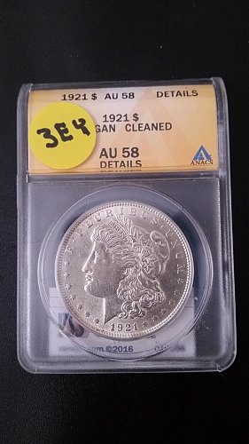 1921 P (Philadelphia) ANACS Graded VAM 3EY 90% Silver Morgan Dollar