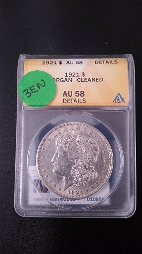 1921 P (Philadelphia) ANACS Graded VAM 3EN 90% Silver Morgan Dollar