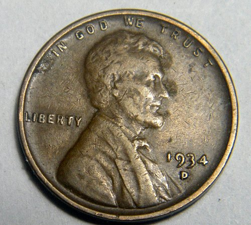 1934 D Lincoln Wheat Cent