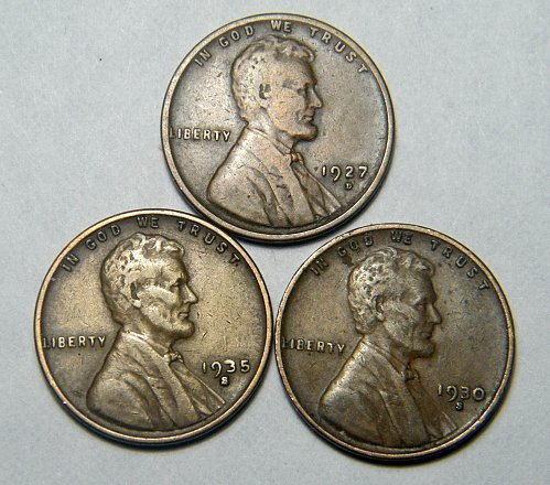 Wheat cent coin LOT 1930 S 1935 S 1927 D ADDITIONAL COINS SHIP FREE