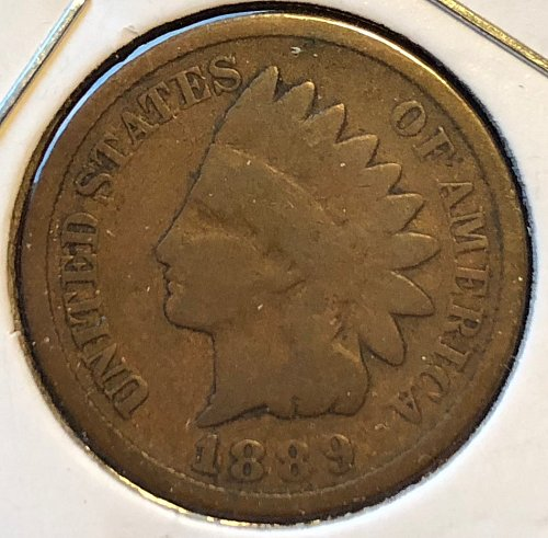 1889 P Indian Head Cent Small Cents