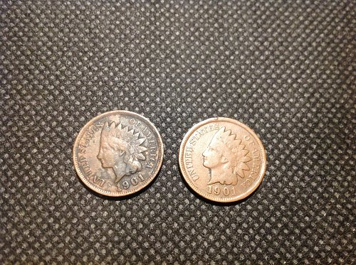 1901 Indian Head Cent. (2) coin set