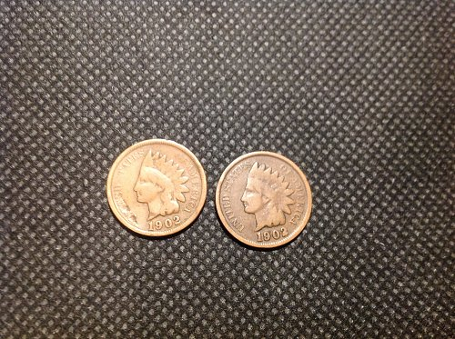 1902 Indian Head Cent. (2) coin set