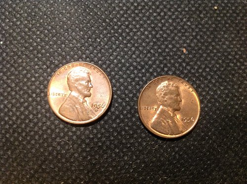 1956 D Lincoln Cent. (2) Coin Lot.