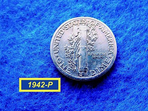 1942-P Merc Dime ☆   (#3743)a
