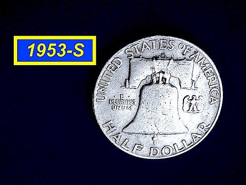 1953-D Franklin ☆ CIRCULATED ☆    (#1034)a