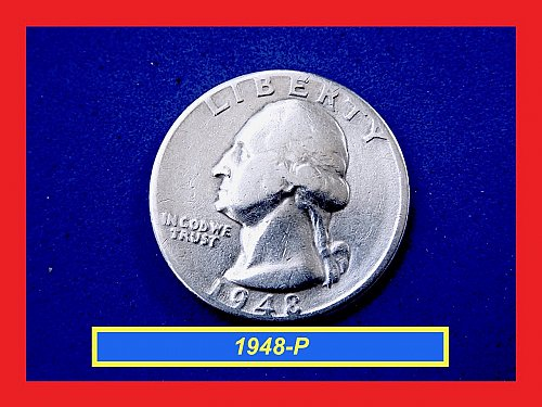 1948-P  Quarter ☆ CIRCULATED ☆ (#2874)a