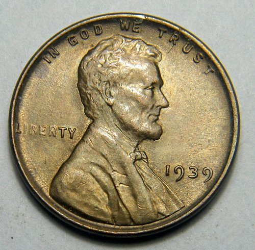 1939 P Lincoln Wheat Cent