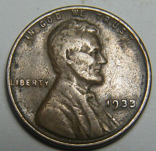 1933 P Lincoln Wheat Cent  217691  B26