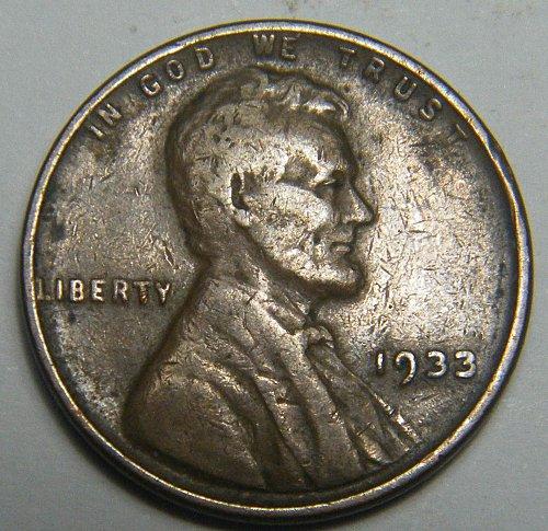 1933 P Lincoln Wheat Cent  217691  B26