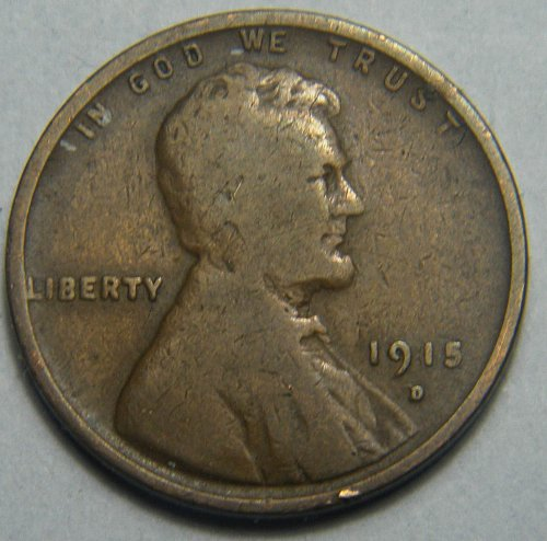 1915 D Lincoln Wheat Cent