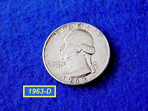 "1963-D Quarter  ☆  ""XF""  CONDITION ☆   (#2841)a"