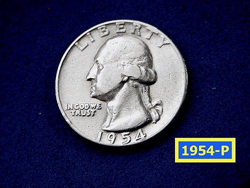 1954-P  SIlver Quarter ☆ (#2904)a