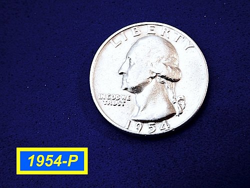 "1954-P Quarter ☆  ""Circulated"" ☆ (#2011.11)a"