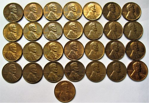 1959 Through 1970-P&D Lincoln Penny Lot Plus Extras
