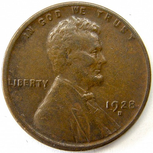 1928 D Lincoln Wheat Cent #7