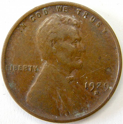 1929 D Lincoln Wheat Cent #6