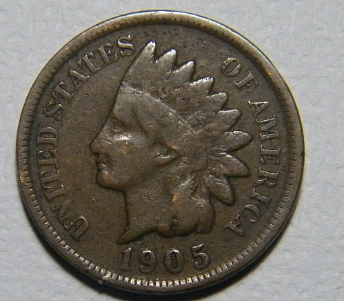 1905 P Indian Head Cent  218382  B6