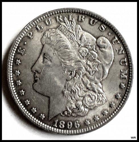 1896 P Early Morgan Silver Dollar: