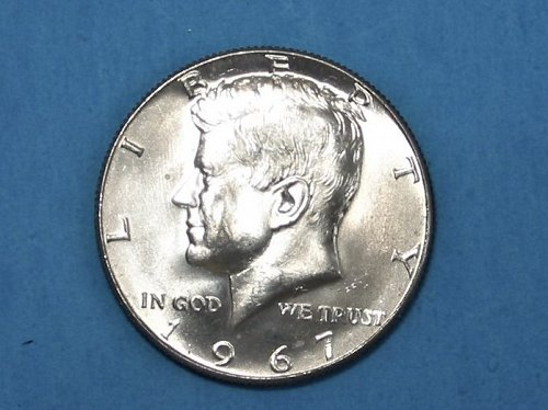1967 Kennedy Half Dollar ** Sharp BU ** 40% Silver