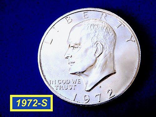 1972-S EISENHOWER Silver Dollar ☆   ☆(#5504)a