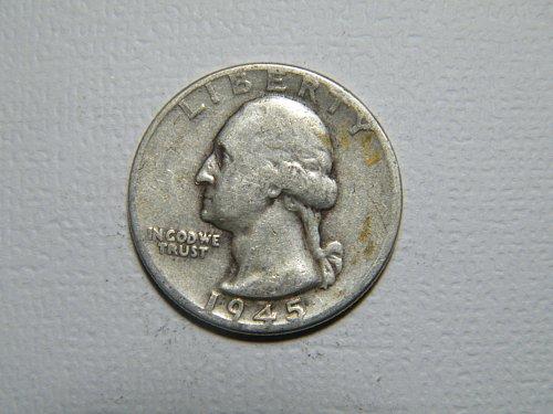 1945 P Washington Quarter  ADDITIONAL COINS SHIP FREE