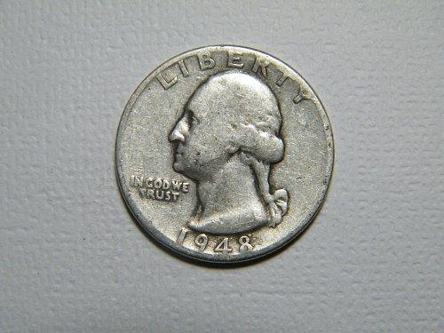 1948 P Washington Quarter
