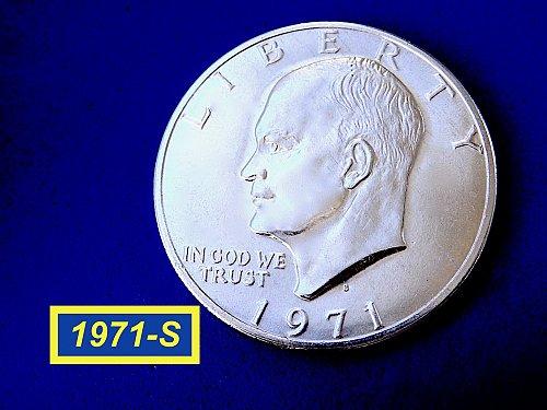 1971-S EISENHOWER Silver Dollar ☆   ☆(#5509)a