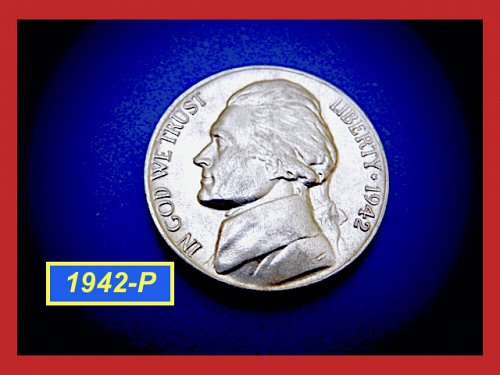 "1942-P Silver War-Time Nickel  ☆ ""AU"" ☆   (#6419)a"