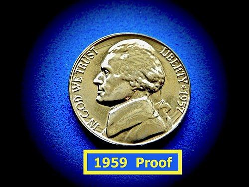 "1957 Gem PROOF Nickel  ☆ ""PROOF"" ☆   (#6439)a"