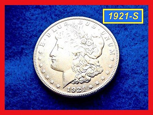 1921-S Morgan Silver Dollar ☆ Circulated ☆ (#5410)