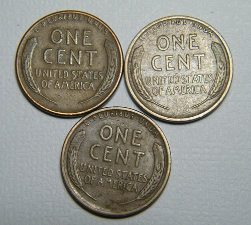 Wheat cent  LOT 1935 D 1927 D 1924  ADDITIONAL COINS SHIP FREE