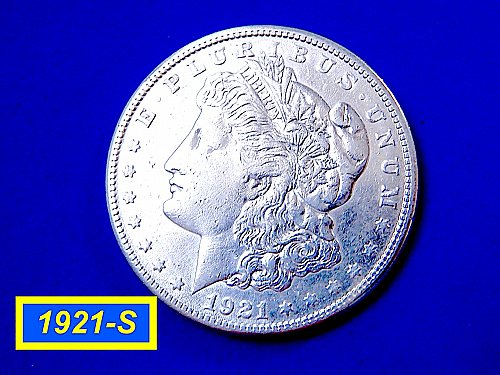 1921-S Morgan Silver Dollar ☆ Circulated ☆ (#5453)