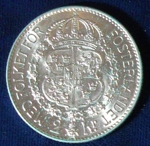 1938 Sweden 2 Kronor UNC