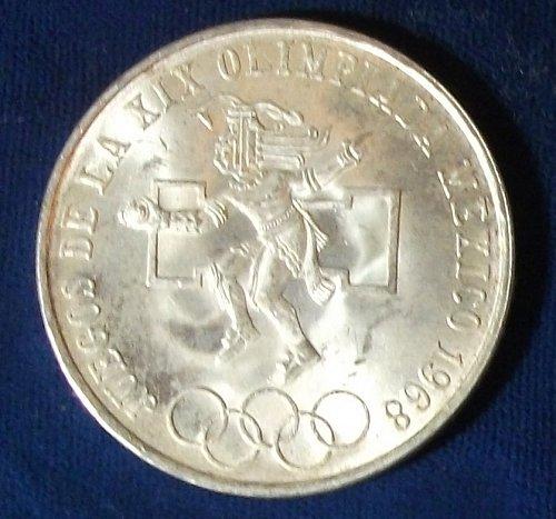 1968 Mexico 25 Pesos UNC