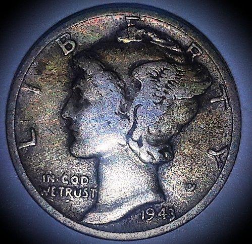 1943 Mercury Dime excellent wartime dime