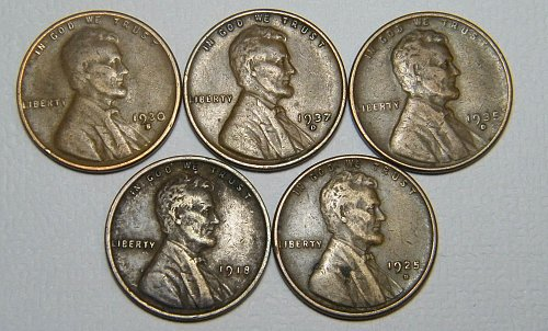 Wheat cent  LOT  ADDITIONAL COINS SHIP FREE