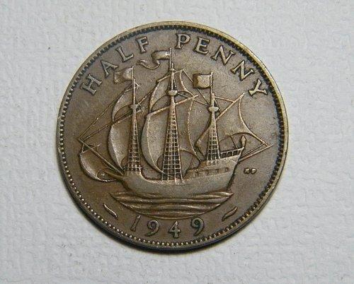 1949 half penny Great Britain