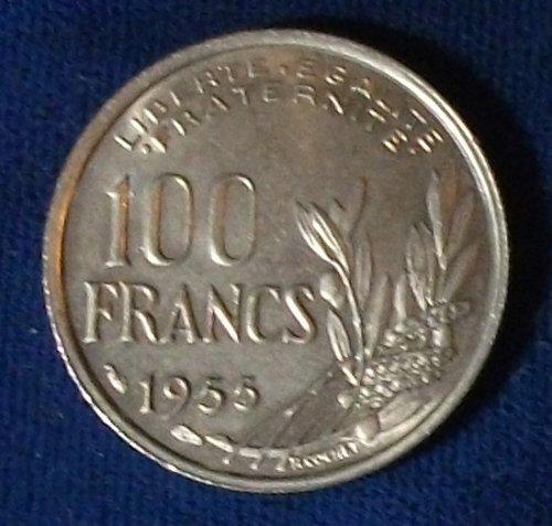 1955 France 100 Francs AU