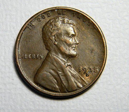 1935 D Lincoln Wheat Cent   219146  B30