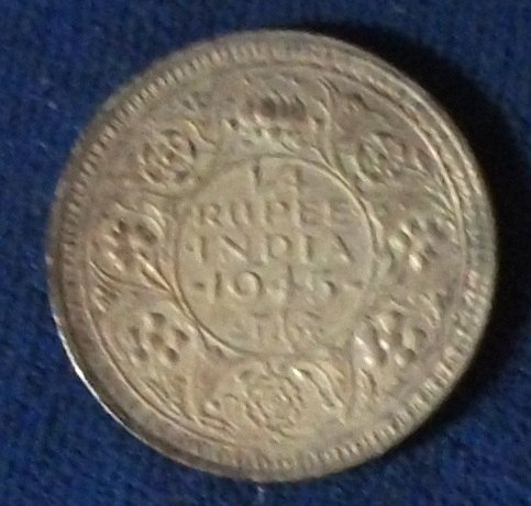 1945(b) India/British 1/4 Rupee XF