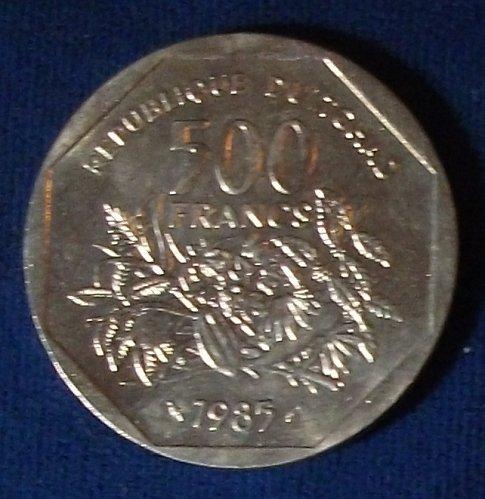 1985 Central African Republic 500 Francs BU