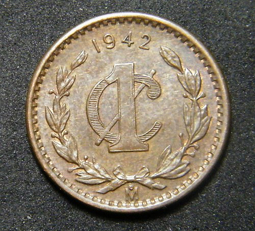 Mexico one cent 1942