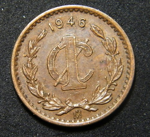 Mexico one cent 1946