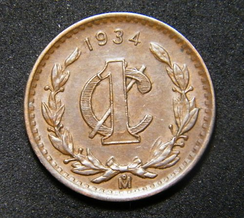 Mexico one cent 1934