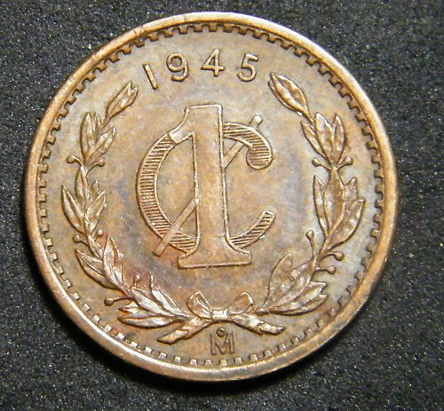 Mexico one cent 1945
