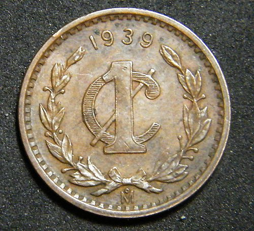 Mexico one cent 1939
