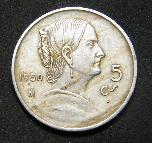 1950 5 centavos Mexico
