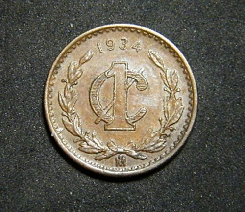 MEXICO ONE CENTAVOS  1934 ADDITIONAL COINS SHIP FREE